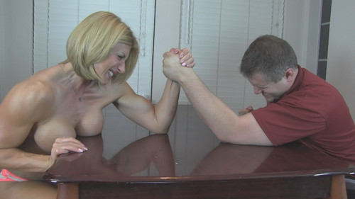 Step-dad arm wrestle