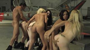 Jesse Jane, Kayden Kross, Riley Steele, Selena Rose, Stoya - Top Guns sc5, 2011, HD, 720p