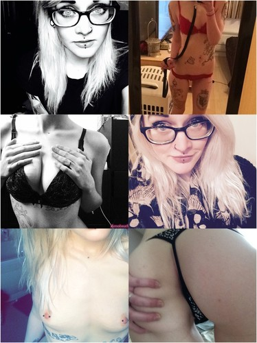 Tattooed Cute Blonde Loves Smoking Weed